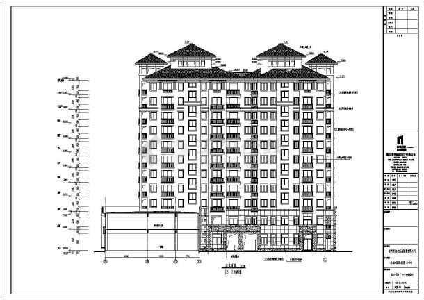 [广西]高层框剪结构塔式砖瓦屋面住宅建筑施工图图片