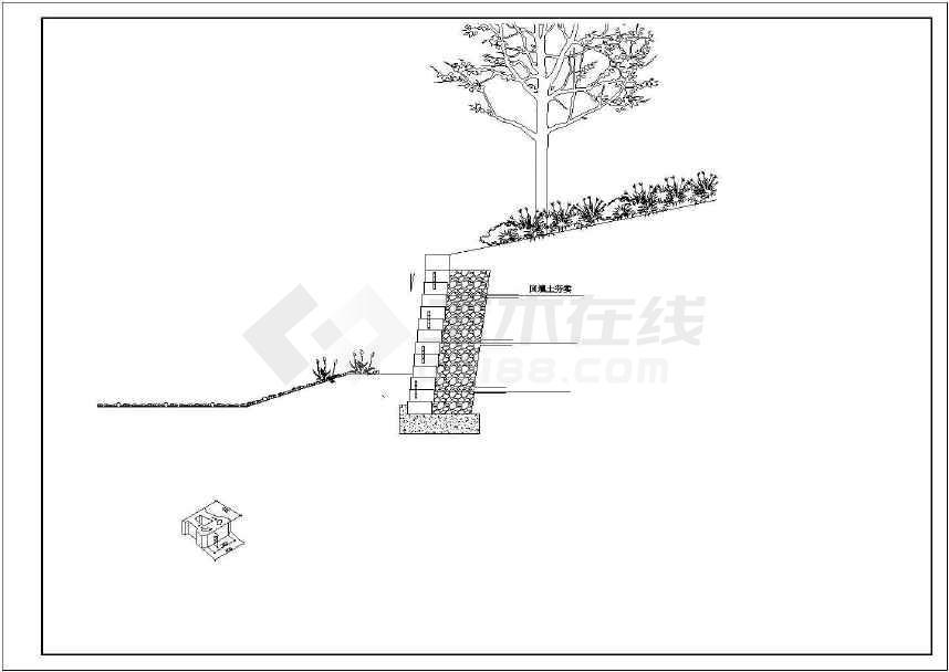 自嵌式植生景观挡土墙设计施工图纸