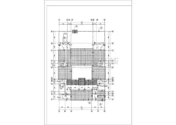 某地区某四合院住宅方案cad设计图