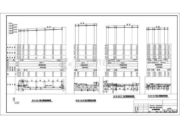 某虚线室外工程图纸CAD设计施工热力cad编辑管道图片