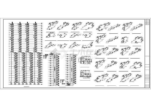 33层住宅分户采暖通风设计图-图3