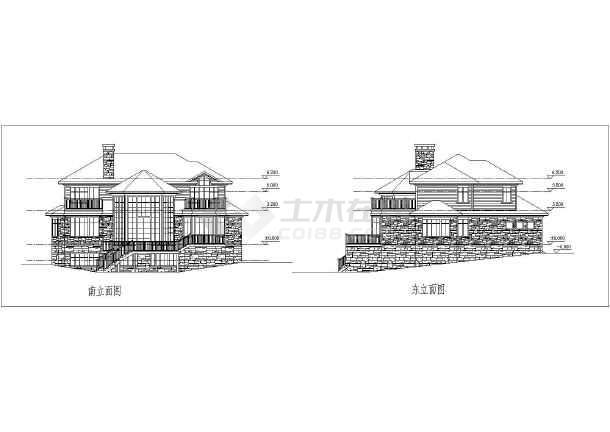 400平米两层车床图纸建筑施工乡村怎样才能看别墅v车床懂图纸图片