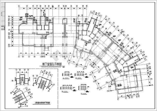 19户型住宅楼cad图纸v户型图纸工程华宇龙湾层高建筑结构图片