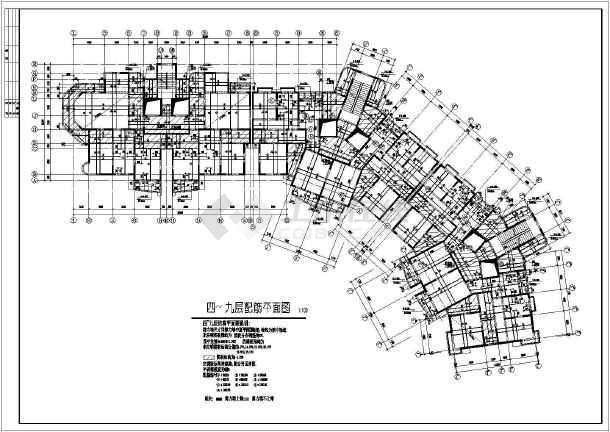 19层高住宅楼cad新制v层高图纸结构7.15皮工程图纸图片