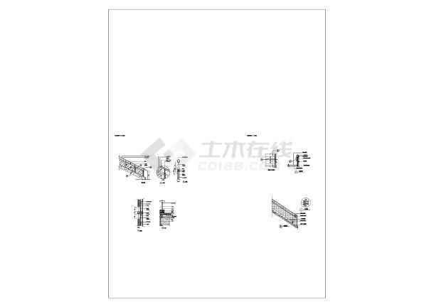 单跑楼梯方案设计图纸  立面  节点  大样-图2