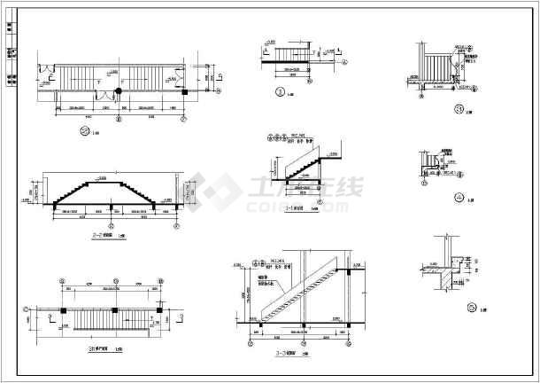 某社区中心三层楼梯建筑设计节点详图-图2