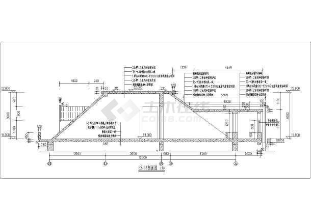 某小区户型住宅楼梯建筑设计节点大样图-图1