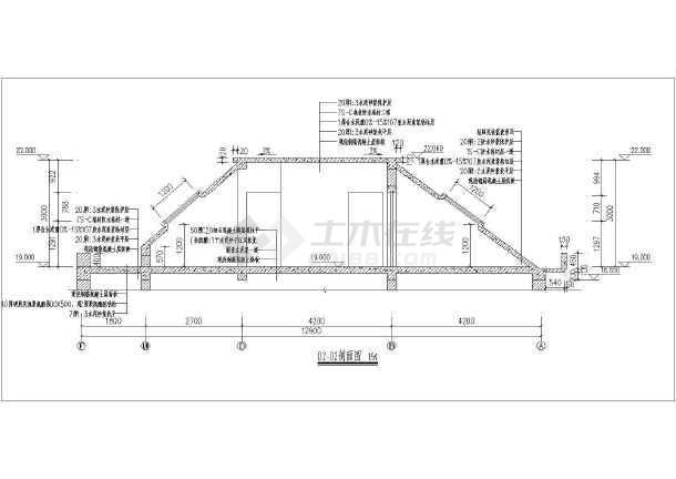某小区户型住宅楼梯建筑设计节点大样图-图3