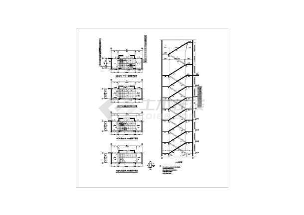 某地高层商住楼楼梯建筑设计节点详图-图1