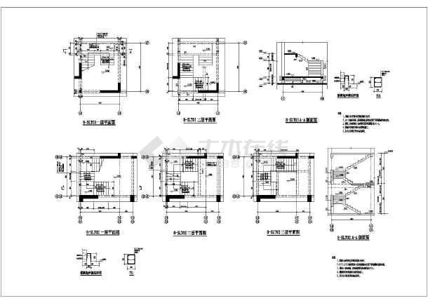 某地高层商住楼楼梯建筑设计节点详图-图2