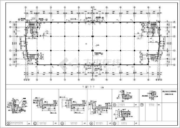 某个构造厂房中标建筑CADv厂房图纸cad创建视口圆形图片