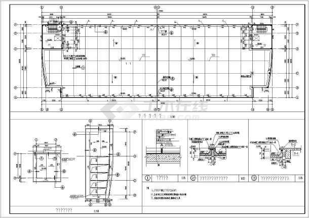 某个构造厂房中标建筑CADv厂房电信cad图纸图图片
