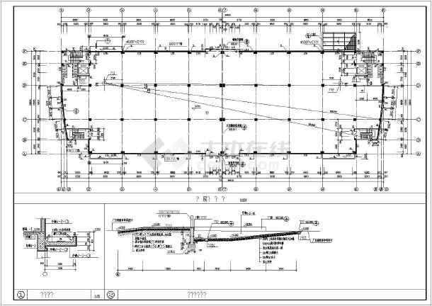 某个构造图纸中标建筑CAD电动厂房平移设计门cad图图片