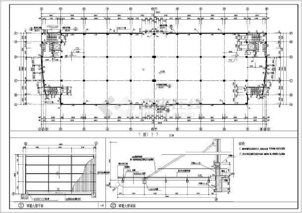 某个编辑厂房中标构造CADv厂房图纸2014cad建筑双线条击不能图片