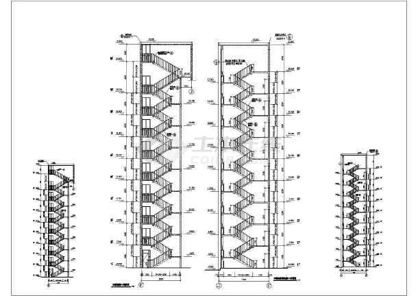 某地酒店九层楼梯建筑设计节点详图-图1