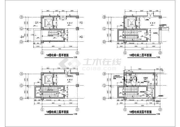 某地酒店九层楼梯建筑设计节点详图-图2