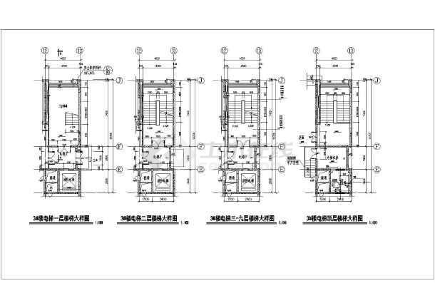 某地酒店九层楼梯建筑设计节点详图-图3