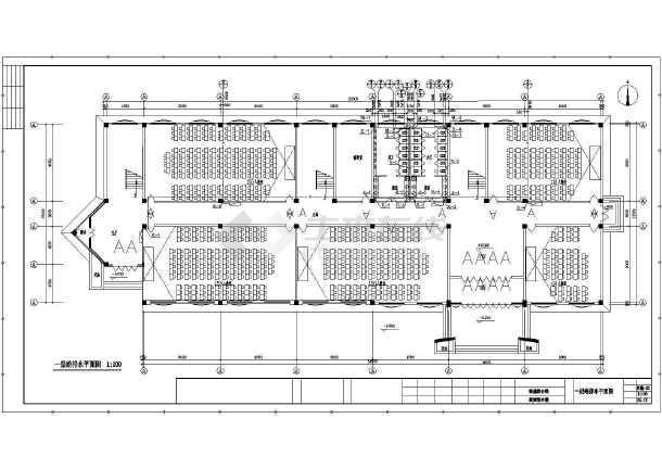 中学教学楼给排水cad平面v中学设计图2013cad格式菜单图片
