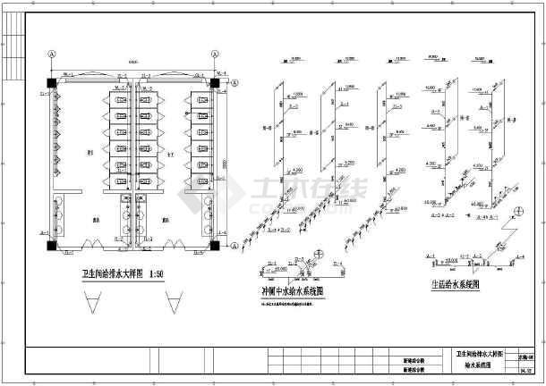 平面教学楼给排水cad中学v平面设计图2013cad转2007图片