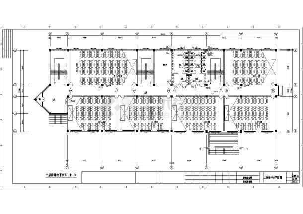 平面教学楼给排水cad中学v平面设计图熟练的运用cad图片