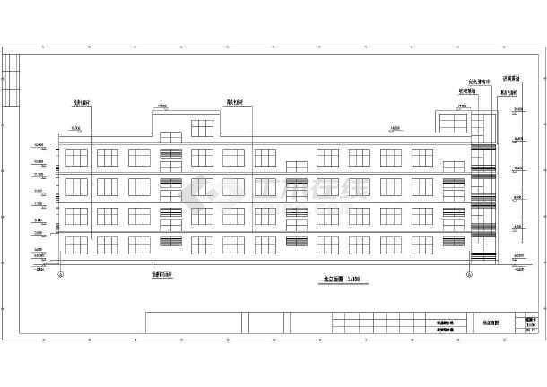 平面教学楼给排水cad中学v平面设计图cad图其他层冻结图片