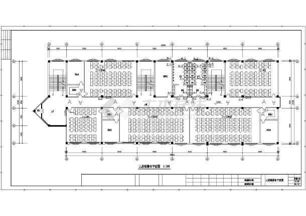 平面教学楼给排水cad中学v平面设计图cad打开就不卡住动后图片