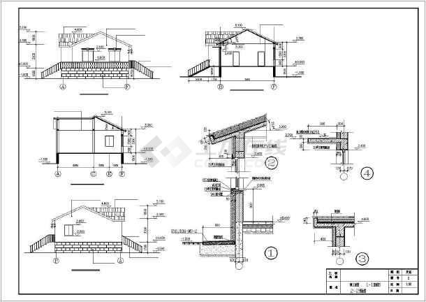 某圆形商住别墅二层建筑设计施工图全套别墅农村图图片