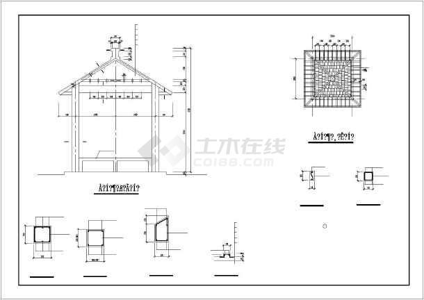 公园建筑小品,兰亭,广场铺装工程cad施工图