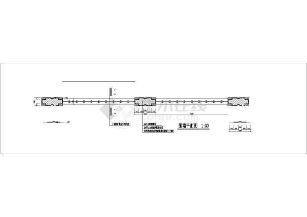 某园林围墙栏杆详图-图1