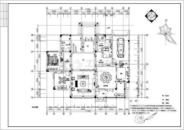 欧式别墅室内设计装修cad平面图