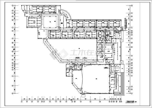 某中学教学楼电气设计cad平面图纸图片