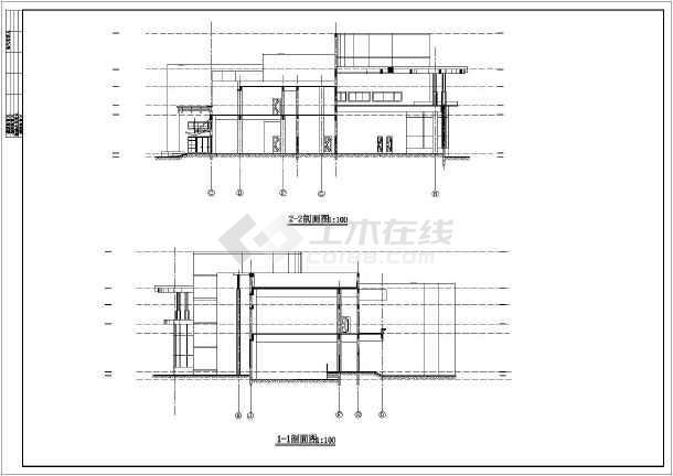 某娱乐中心体育健身楼方案设计图-图2