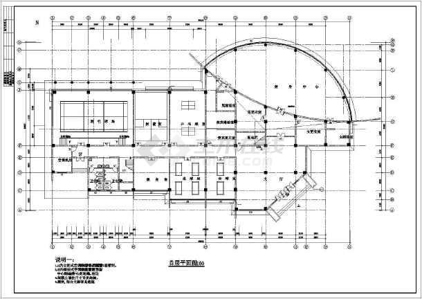 某娱乐中心体育健身楼方案设计图-图3