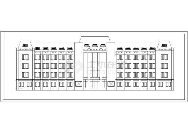 某地区五层医院传染学徒cad设计建筑方案图广州装修室内设计病房招聘图片