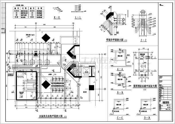 某工程图纸及泵房消防图纸v工程图纸_cad屋顶消防工程水箱含那些图片