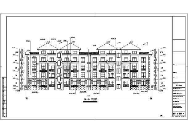 某地区四层花园洋房建筑cad设计施工图-图1