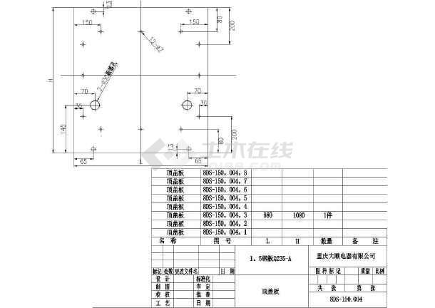 建筑电气供配电系统_电气控制柜cad施工平面图纸全套_cad图纸下载-土木在线