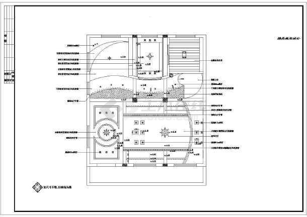 某立地式套房室内装修cad平立面设计施工图
