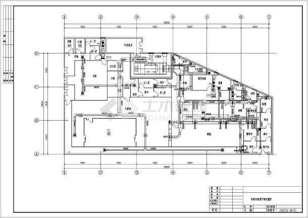 某图纸输液图纸a图纸详情设计图纸车间毕业设计医院cad空调图片
