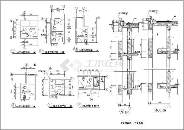 某6层住宅楼cad施工设计图