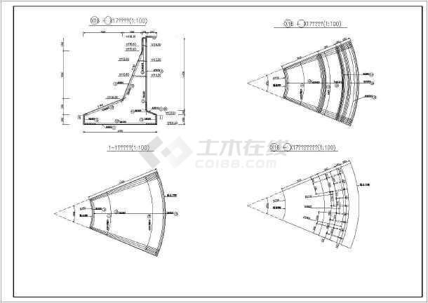 半重力式挡土墙钢筋图-图3