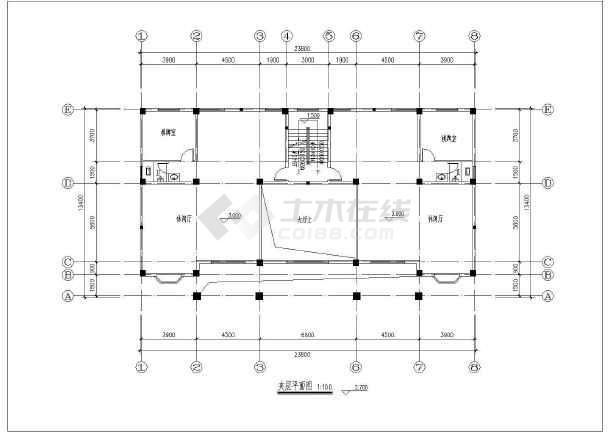 两层半别墅给排水设计施工图纸图片