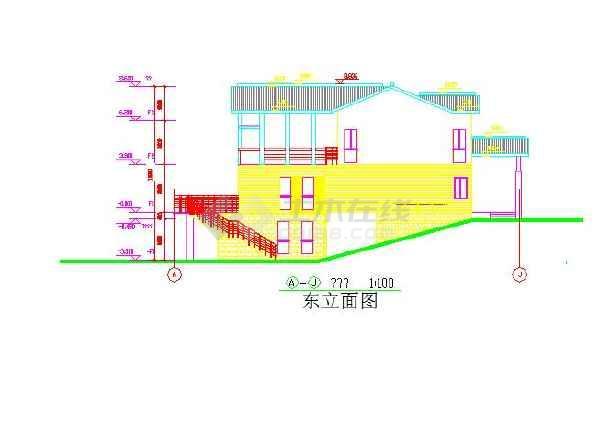 三层小模型图纸CAD图纸台湾cad别墅图片