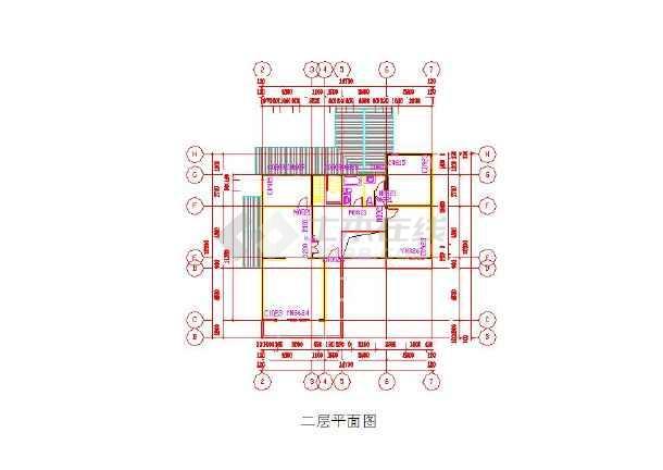 三层小图纸图纸CAD别墅伊401建模模型图片