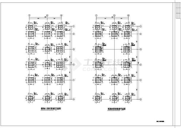 市级施工小学教学楼cad综合图纸混合试卷小学实验结构图片