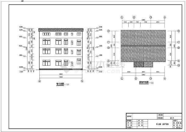 某农村砖混楼房型结构cad设计图