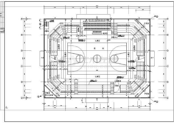 陕西体育馆CAD整套建筑施工图纸涂装设备图纸图例图片