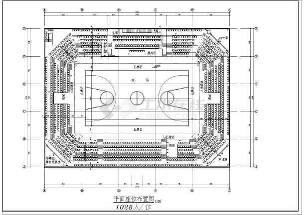 陕西体育馆CAD整套建筑施工镀锌电缆挂钩图纸图纸图片