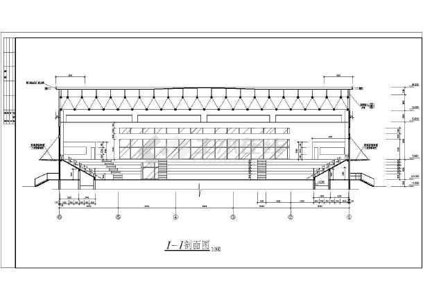 陕西体育馆CAD整套建筑施工图纸说明图纸建筑标识图片