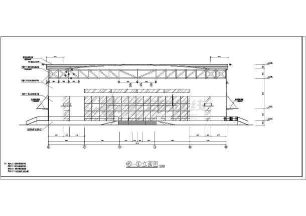 陕西体育馆CAD整套建筑施工图纸串珠的图纸百合花手工图片
